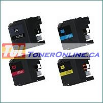 Brother LC201BK-LC201Y High Yield Compatible Ink Cartridges 4 Color Set for MFC-J460DW, MFC-J480DW