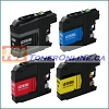 Brother LC203BK-LC203Y Compatible Ink Cartridge 4 Color Set for MFC-J4320DW, MFC-J4420DW