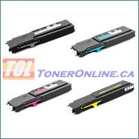 Dell 593-BBU-593-BBBR (RD80W-YR3W3) Compatible Toner Cartridge 4 Color Set for Color Laser C2660dn, C2665df