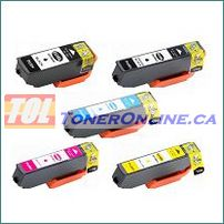 Epson T410XL020-T410XL420 High Yield Compatible Ink Cartridges 5 Color Set for Expression Premium XP-530, XP-630