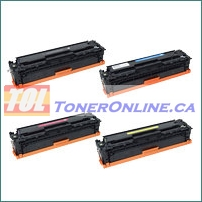 HP CF400X-CF403X High Yield Compatible Toner Cartridge 4 Color Set for HP Color LaserJet Pro M252dw