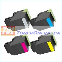 Lexmark 701HK-701HY 70C1HK0-70C1HY0 4 Color High Yield Compatible Toner Cartridge for Lexmark CS310, CS410