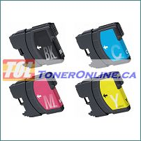 Brother LC65 Compatible Ink Cartridge Set (4 colors) for MFC-5890CN MFC-6890CDW