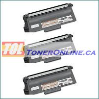 Brother TN750 TN-750 / TN720 TN-720 High Yield Black Compatible Toner Cartridge 3PK for DCP-8110DN, MFC-8510DN