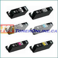 Canon PGI-225 and CLI-226 Compatible Ink Cartridge (Black and color) 6PK color set (with chip) for PIXMA MG6120 PIXMA MG8120