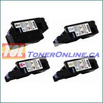 Dell 331-0778 - 331-0779 High Yield Compatible Toner Cartridge 4 Color Set for Color Laser 1250c Multi-Function 1355cn
