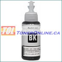 Epson T664120 T664 Black Ultra High Capacity Compatible Refill Bottle Ink for EcoTank Expression ET-2500