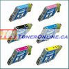 Epson T048120- T048620 (T0481-T0486) Compatible Ink Cartridge 6 Color Set for Stylus Photo R200 RX500