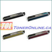 HP CE310A-CE313A 126A Compatible Toner Cartridge 4 Color Set for Color LaserJet CP1025nw & 100 MFP M175nw