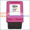 HP 62XL C2P07AN Tri-Color High Yield Remanufactured Ink Cartridge for Envy 5640, 5642