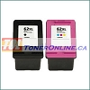 HP 62XL C2P05AN C2P07AN High Yield Remanufactured Ink Cartridge Set for Envy 5640, 5642