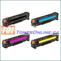 HP CF380X-CF383A 312X 312A High Yield Compatible Toner Cartridge 4 Color Set for HP Color LaserJet Pro M476dn MFP, M476dw MFP