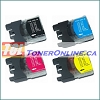 Brother LC61 Compatible Ink Cartridge Set (4 colors) for MFC-290C MFC-295CN 4-Color Set