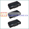 Ricoh 406465 Black Compatible Toner Cartridge 3PK for Aficio SP3400n