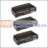 Ricoh 406989 Black Compatible Toner Cartridge 3PK for Aficio SP 3500N, SP 3510SF